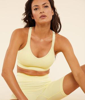 Top de yoga, sujeción media;${refinementColor}