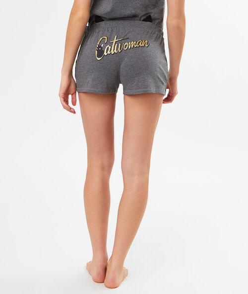Pantalón corto estampado Catwoman
