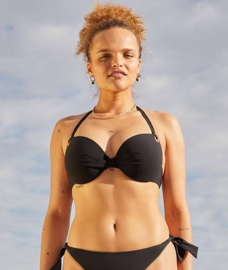 Sujetador bikini con foam lisa. Copa D-E