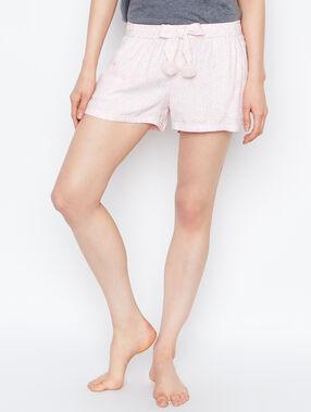 Pantalón estampado detalles pompones rose.