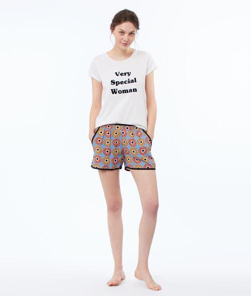 Pantalón corto estampado étnico