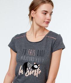 Camiseta siesta c.gris.