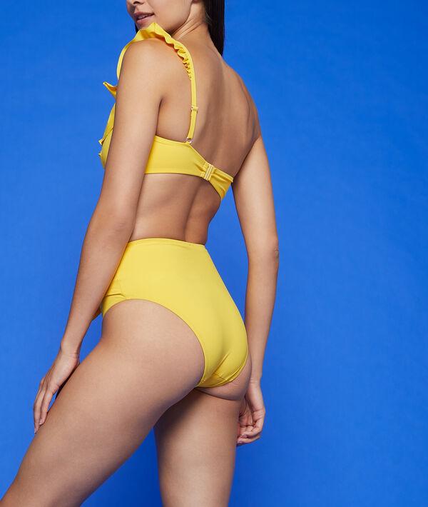 Braguita bikini talle alto lazo decorativo