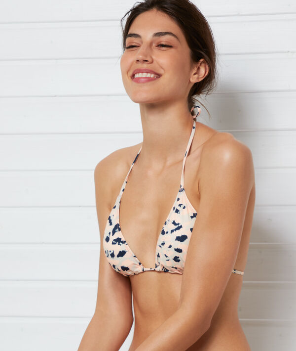 Sujetador bikini triangular estampado leopardo