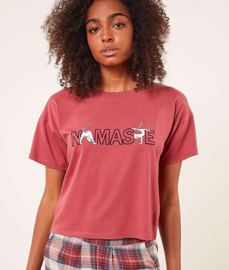Camiseta manga corta 'namaste';${refinementColor}