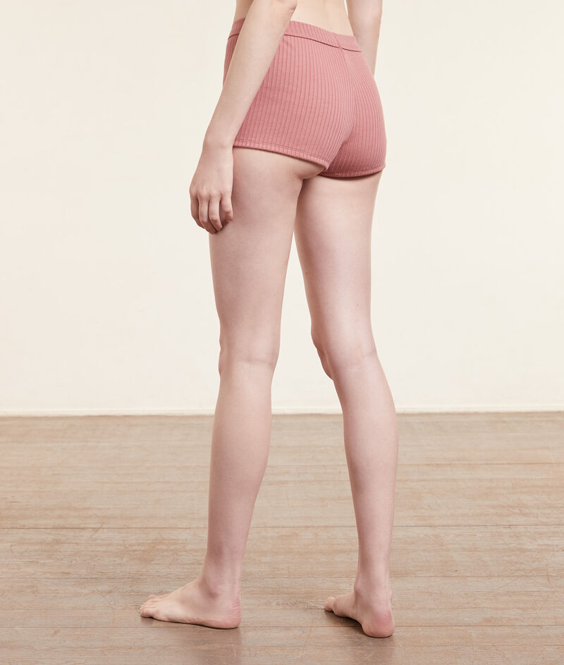 Pantalón corto tejido canalé;${refinementColor}