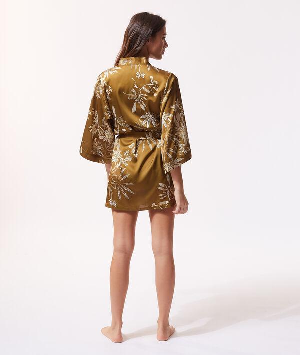 Kimono estampado de satén;${refinementColor}