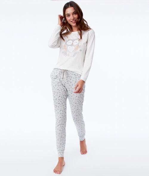 Pijama tres piezas  búho