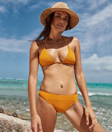 Braguita bikini tejido relieve c.ocre.