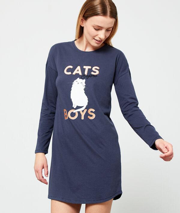 Camisón estampado 'cats before boys'