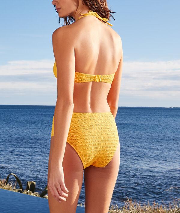 Culote bikini talle alto con hebilla;${refinementColor}