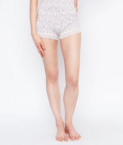 Pantalón estampado c.beige.