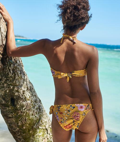 Braguita bikini estampado floral lazos laterales
