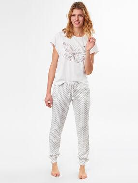 Camiseta mariposa blanco.