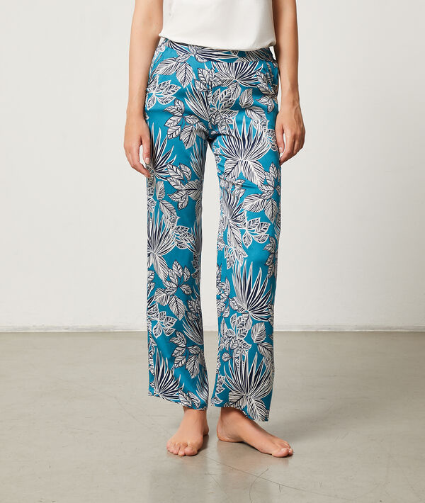 Pantalón estampado tropical;${refinementColor}