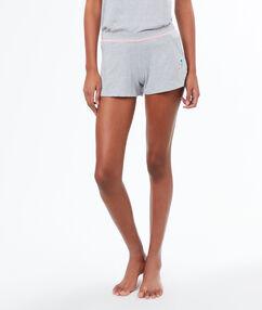 Pantalón corto jaspeado c.gris.