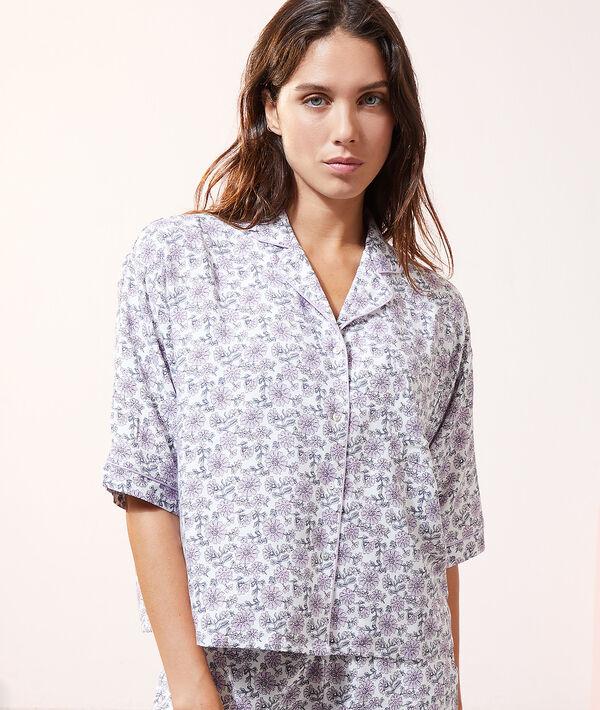 Camisa pijama estampado floral;${refinementColor}