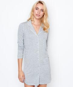 Camisón tipo camisa c.gris.
