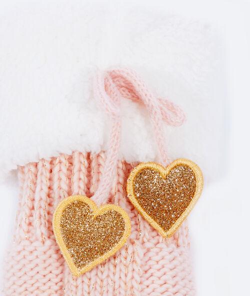Calcetines punto tricotado forro interior