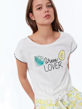 Camiseta hortalizas blanco.