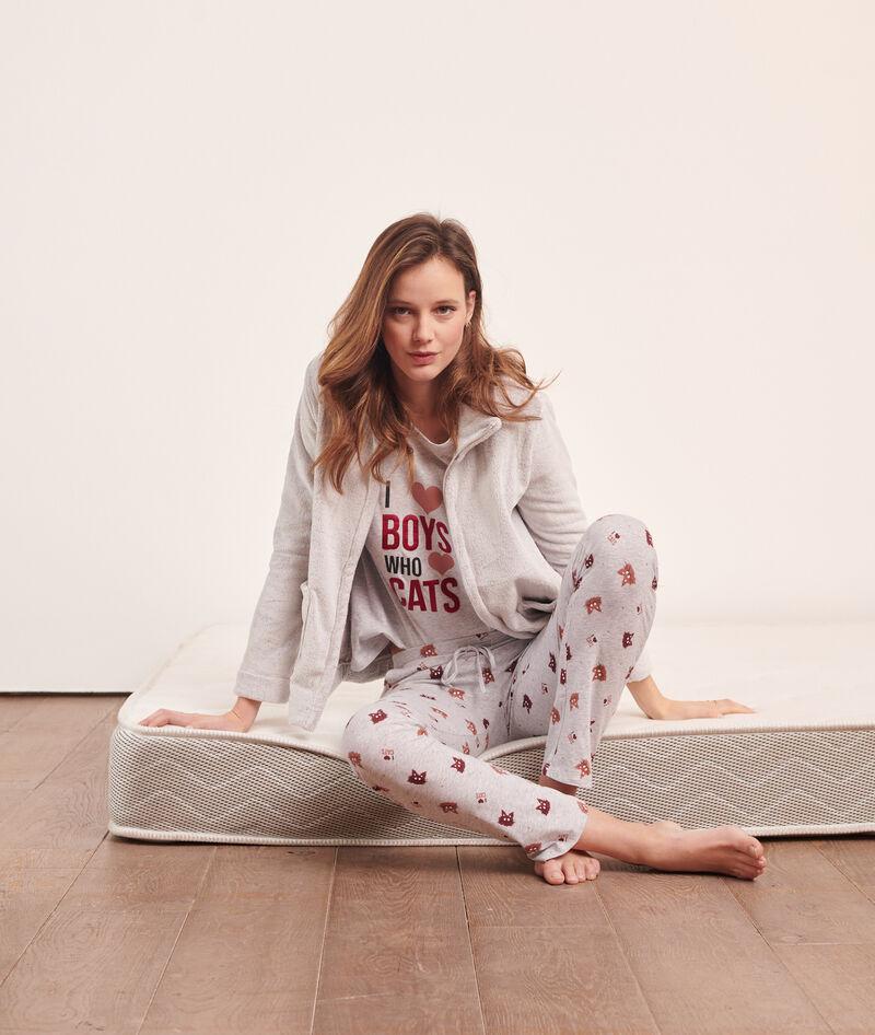 Pijama 3 piezas 'i love boys who love cats'
