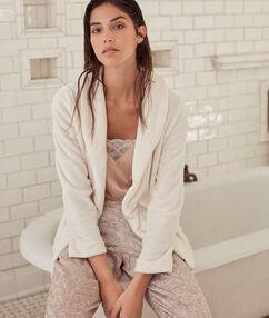 Pijama 3 piezas satén c.beige.