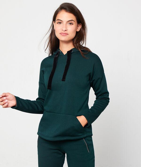 Sudadera homewear con motivos terciopelo