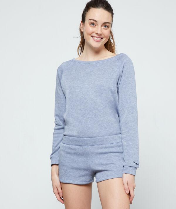 Pantalón corto homewear 'happy mind'