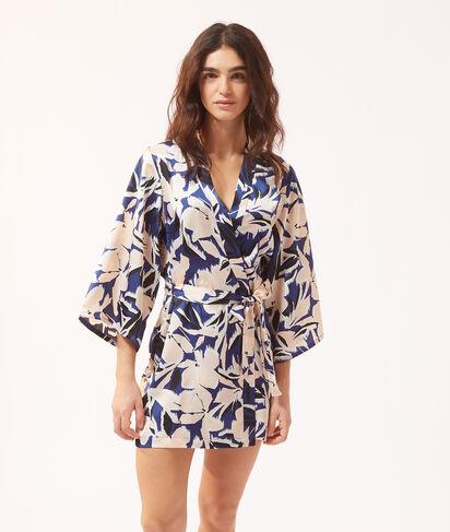 Kimono satiné fleuri;${refinementColor}