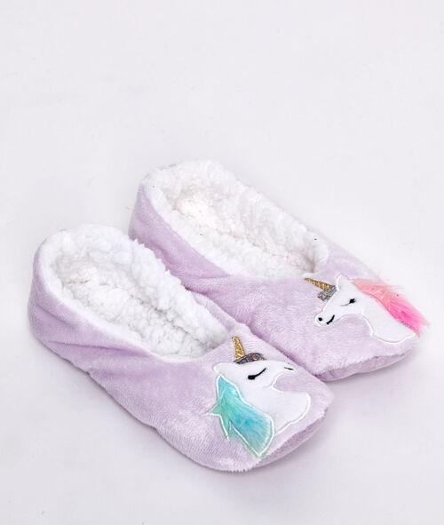 Zapatillas unicornio con forro