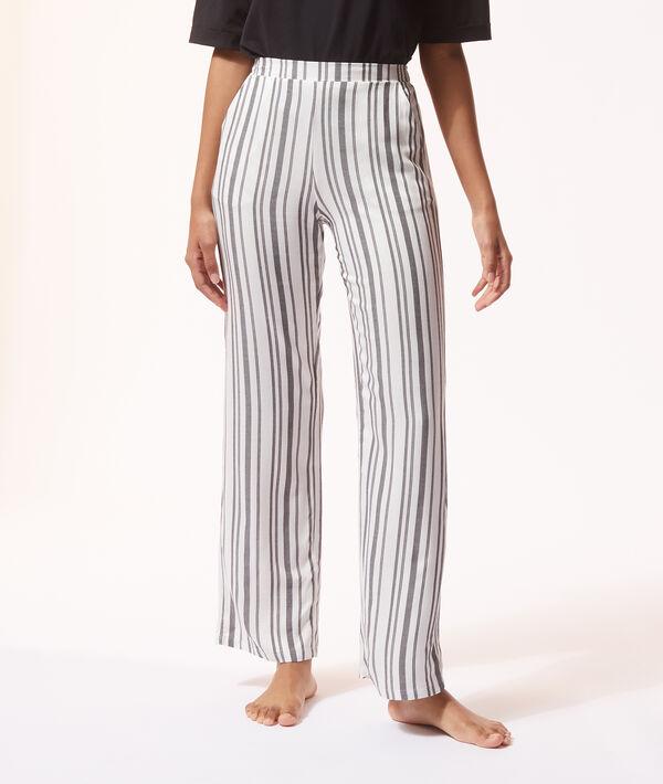 Pantalón pijama estampado de rayas;${refinementColor}