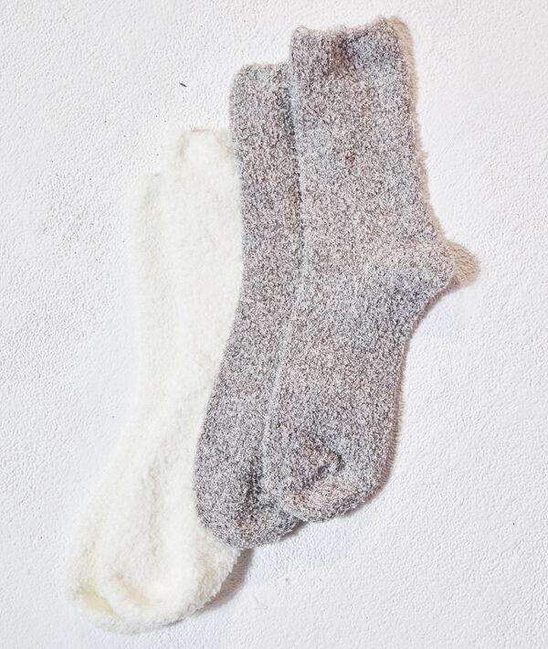 Lote de 2 pares de calcetines mullidos;${refinementColor}