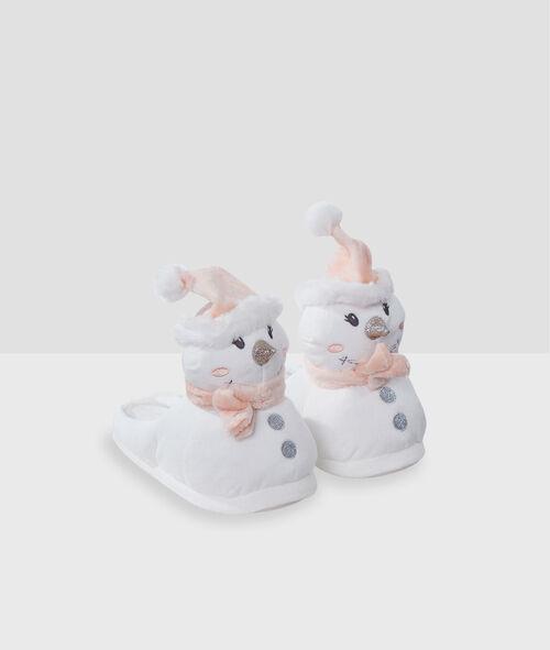Zapatillas destalonadas muñecos de nieve