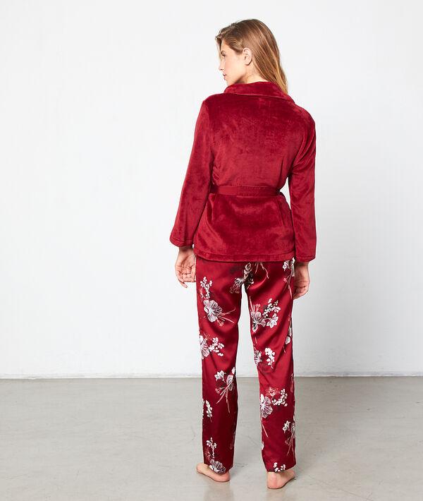 Pijama de 3 piezas de satén