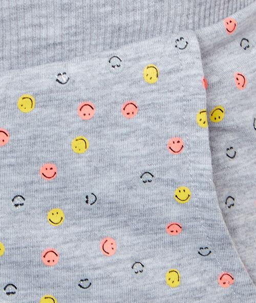 Pantalón corto estampado smiley