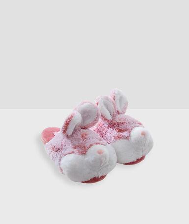 Zapatillas conejos 3d rosa.