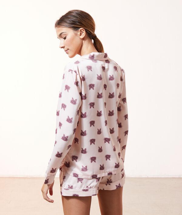 Camisa pijama estampado gatos;${refinementColor}
