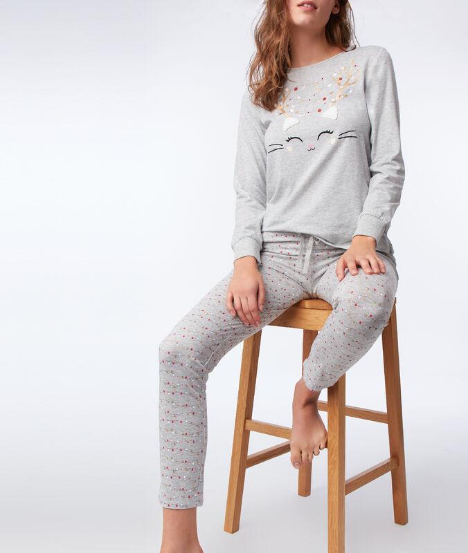 Pantalón estampado c.gris.