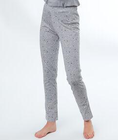 Pantalon imprimé étoiles gris.