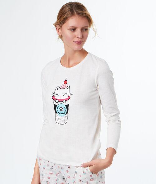 Camiseta estampada gato