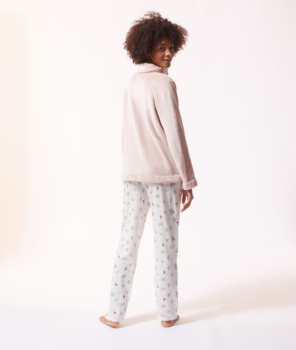 Pijama 3 piezas, chaquetas forro polar;${refinementColor}