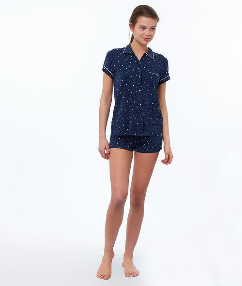 Camisa pijama estrellas franjas metalizadas