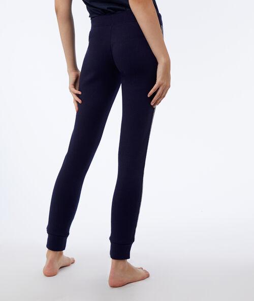 Pantalón elástico franja metalizada