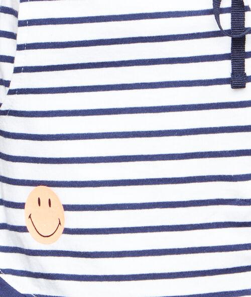 Pantalón corto a rayas Smiley
