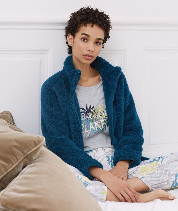 Pijama 3 piezas estampado hojas;${refinementColor}
