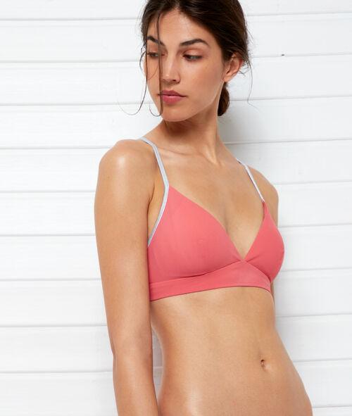 Sujetador bikini triangular bicolor