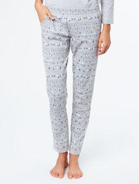 Pantalón pijama estampado c.gris.