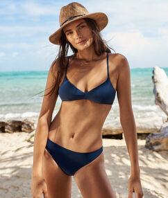 Braguita bikini lisa azul marino.