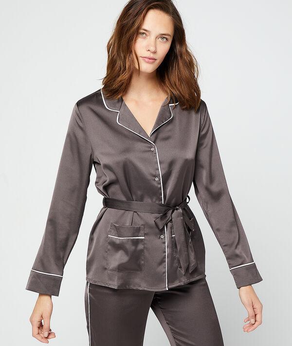 Camisa pijama de satén