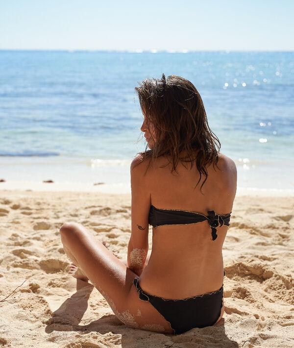 Sujetador bikini tirantes extraíbles suaves ondulaciones